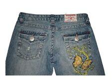 Ladies Women True Religion Joey Big T Jeans Butterfly Distressed Light Size 27