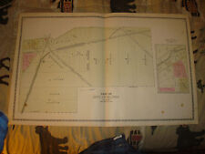 SOUTH PART OF ELYRIA LORAIN COUNTY OHIO ANTIQUE HANDCOLORED MAP FINE RARE NR