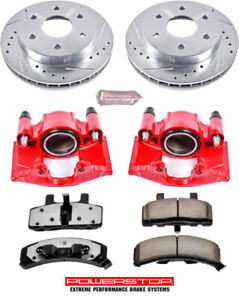 Caliper Rotor Disc & Brake Pad kit Rear for Chevy GMC