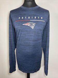 The Nike Tee Dri-Fit NFL New England Patriots Long Sleeve Blue T Shirt 3XL BNWT