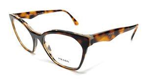 PRADA VPR 09U TH8-1O1 Havana Women's Authentic Eyeglasses Frame 54 mm