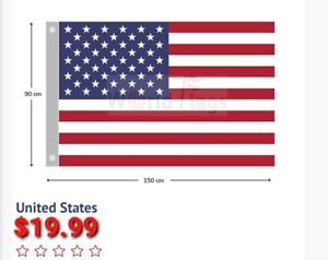 The United States flag  900mm×1500mm LARGE BRAND NEW FREE SHIPPING AUS WIDE.