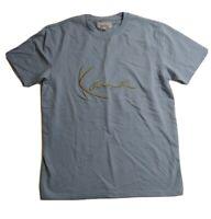 Men Karl Kani S/S T-SHIRT 100%AUTHENTIC size large gold logo blue solid