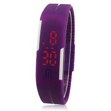NEU Herren Damen Kinderuhr Sport Uhren Uhr Digital LED Silikon Mode Armbanduhr