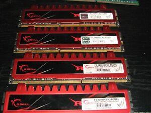 G.Skill RipJaws 16GB ( 4x4GB ) DDR3-1600 F3-12800CL9D-8GBRL Desktop UDIMM Gamer