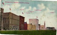 Vintage Postcard - Michigan Ave Oppsite Grant Park Chicago Un-Posted #2948