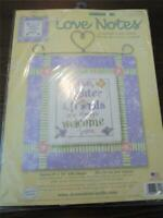 DIMENSIONS LOVE NOTES Counted Cross Stitch Kit - LOVE LAUGHTER AND FRIENDS