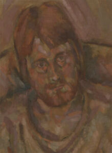 20th Century Oil - Portrait of a Man with Beard