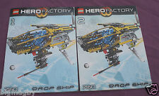 LOT LEGO HERO FACTORY 7160 DROP SHIP - 2 NOTICES MONTAGE / INSTRUCTIONS BOOKTLET