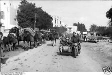 German Army Paratroopers Tunisia Motorbike Sidecar World War 2 Reprint Photo 6x4