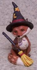 Figurine Halloween Mister Fox Witch Broom and Hat NEW Jim Shore