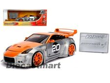 Jada 1:24 20th Anniversary Option D 2003 Nissan 350Z Orange/Raw Metal 31071 New