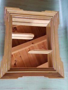 "Vintage Mid century Modern Mirror Wall Shelf Shadowbox 18"" x 14"""