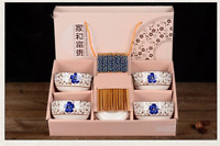 Japanese Chinese Style Rice Bowl Gift Set of 6- UK Seller, Fast Delivery