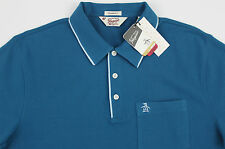 Men's PENGUIN Sea Seaport Blue Polo Shirt Small S NWT NEW Classic Fit Nice!