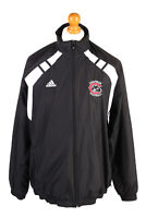 Adidas Mens Tracksuit Top Chapman Football Vintage Lined Size M Black - SW2554