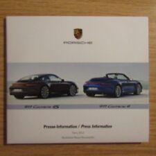 Porsche 911 Carrera 4 4S Cayenne Diesel Press Presse Information Paris 2012