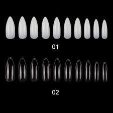 600Pcs/Bag Clear Nails Fake Long Shape Full Cover False Nails Tips 10 Sizes