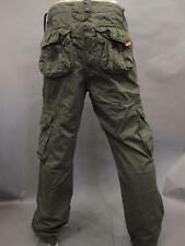 NWT SUPERDRY CARGO PANTS MS71T129 GPS MEN'S MILITARY GREEN SIZE 2XL 38X32