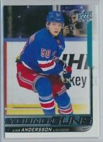 2018-19 Upper Deck Series 2 Young Guns Rookie 497 Lias Andersson Rangers