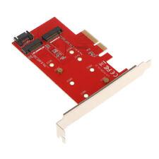 2 Port NGFF M.2 B + M Schlüssel SSD zu PCI E PCI Express 4X4 Lane