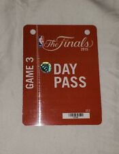 2015 NBA Finals Pass Game 3 credential ticket Curry Golden State Warriors stub