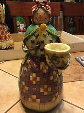 "Jim Shore 2003 Heartwood Creek Snow Woman Cook ""Winters Comfort"" Figurine 112247"