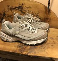Skechers D'Lites Womens Sport Shoes Memory Foam Sneaker Grey Taupe 11936 Sz 8