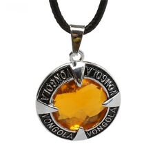 Anime Hitman Reborn Vongola Yellow Metal Pendant Necklace cosplay Collectibles