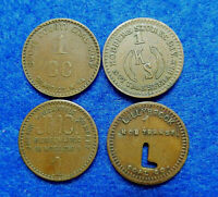 West Virginia Coal Scrip Lot of 4 one cent tokens:Lillybrook,Jr. Mercantile +