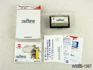 Complete Final Fantasy WonderSwan Color Japanese Import FF 1 WS WSC US Seller