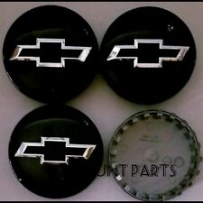 "4ps Wheel Center Hub Caps Chevy Suburban Silverado 14-20 3.25"" 83mm Gloss black"