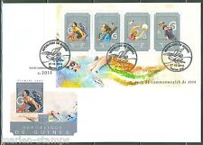 GUINEA 2014 COMMONWEALTH GAMES  SHEET  FIRST DAY COVER
