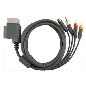 NEW S Video Composite AV RCA Cable Cord for For Microsoft Xbox 360 TV Game