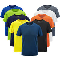 Men Gym Tight Top T-Shirt Short Sleeve Slim Fit V-Neck Casual Fitnes L-8XL Sport