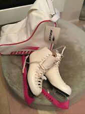 New listing Risport Laser Ice Skates White Leather Sizes 39. skate carry case & guards