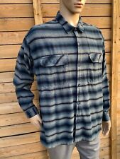 PATAGONIA FJORD Organic Cotton Plaid Blanket Heavy Flannel Shirt Jacket men's L