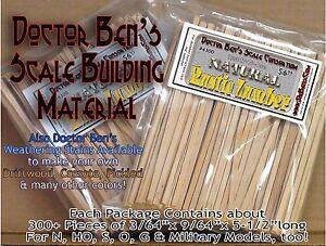 Doctor Ben's Rustic Scale Lumber-Natural Finish-Bulk