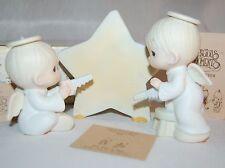 "Precious Moments 12408 "" We Saw A Star "" 1984 Dove Mark 3 Piece Set Mib W/Tags ~"