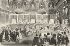 Bee Quadrille Dancing Grand Ball Tuileries, French Costumes 1863 Engraving