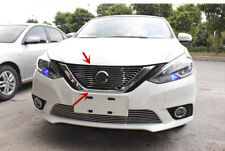 Stainless Steel Front Bumper Hood Upper Grille k Grill For Nissan Sentra 2016-19