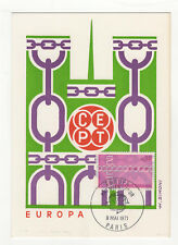 EUROPA  tampon Paris 1er jour FDC 1971 France 1 carte maximum /T2690