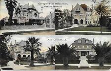 Fine Residences Garden District New Orleans La nice postcard postally used 1912