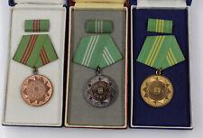 Orig. DDR MdI Polizei Medaillen für Treue Dienste Stufe Bronze Silber Gold
