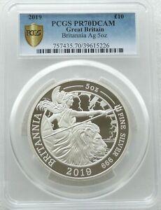 2019 Royal Mint Britannia £10 Ten Pound Silver Proof 5oz Coin PCGS PR70 DCAM