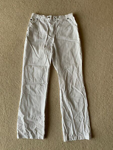 Vintage White Cargo Style Trousers Size 8