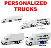 Personalized White Trucks - Customized 1:43 Model Trucks Gift Photo Logo Message