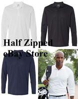 Adidas Mens Golf ClimaLite Long Sleeve Polo Shirt A186 S-3XL
