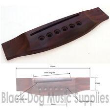 Rosewood acoustic / classical guitar bridge hardwood wood