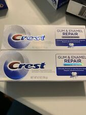Lot of 2 Crest GUM & ENAMEL REPAIR Advanced Whitening, 4.1 oz
